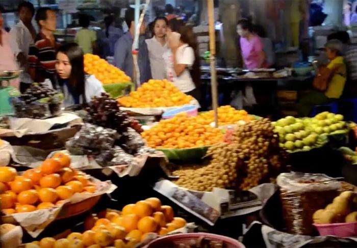 Chinatown in Chinatown, Yangon