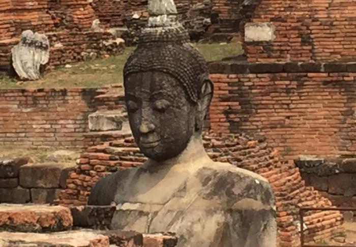 Sleeping Buddha in Ayutthaya Historical Park, Bangkok