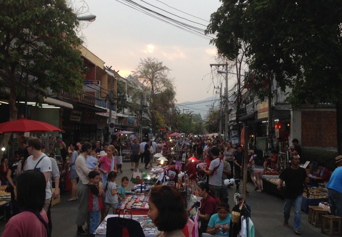 Sunday Walking Street - The variety you can choose from is crazy! in The Nimmanheimin Road, Chiang Mai
