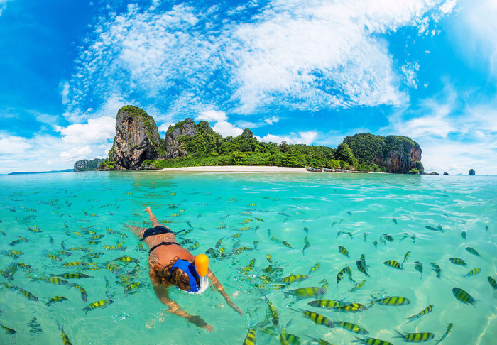 Cerulean Skies of Railay and Ao Nang Beach in Cerulean Skies of Railay and Ao Nang Beach, Krabi