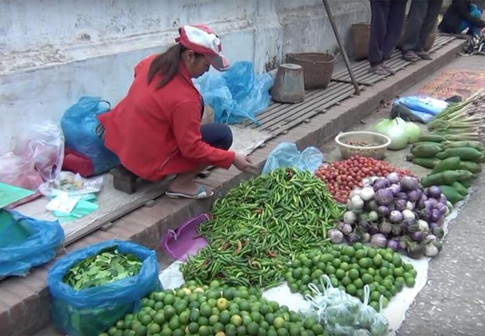 The Morning Market in The Morning Market, Luang Prabang