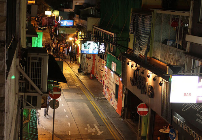 Soho Area & Man Mo Temple in Soho Area & Man Mo Temple, Hong Kong