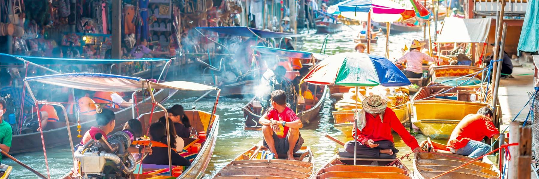 Damnoen Floating Market & Maeklong Railway Market Small Group Tour – Full Day gallery