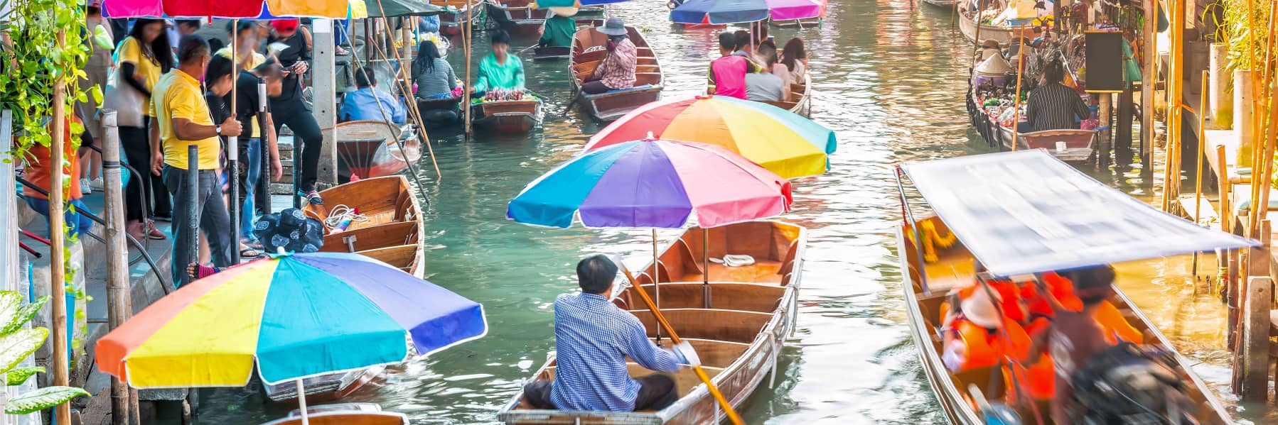 Damnoen Saduak Floating Market Bangkok Small Group Tour – Half Day gallery