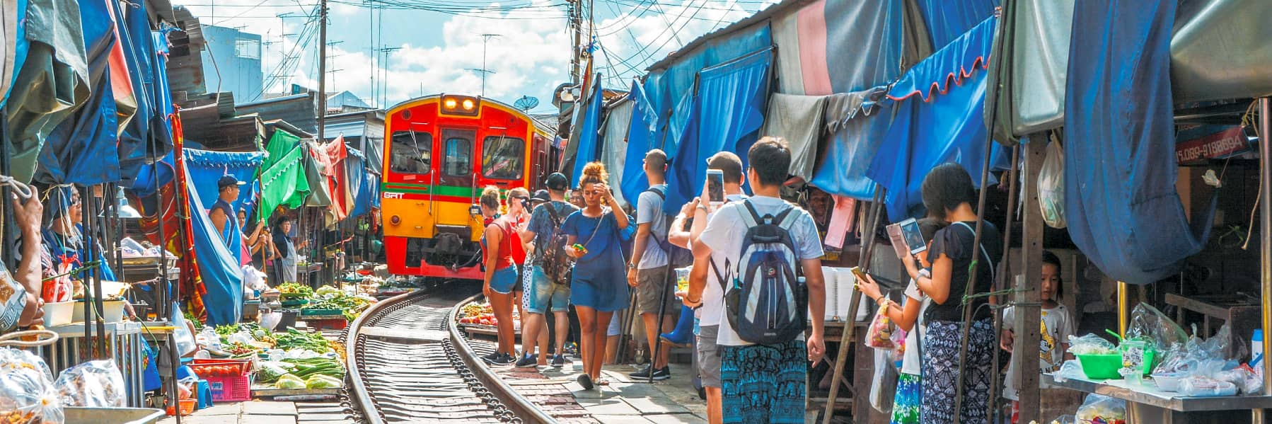 Amphawa Floating Market & Maeklong Railway Train Market Small Group Tour– Full Day gallery