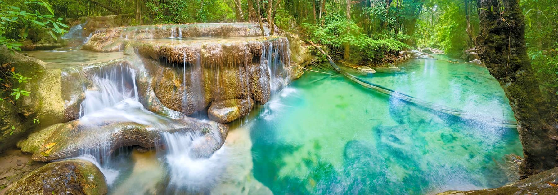 Erawan National Park Small Group Tour: Erawan Waterfall and Bridge over the River Kwai – Full Day gallery