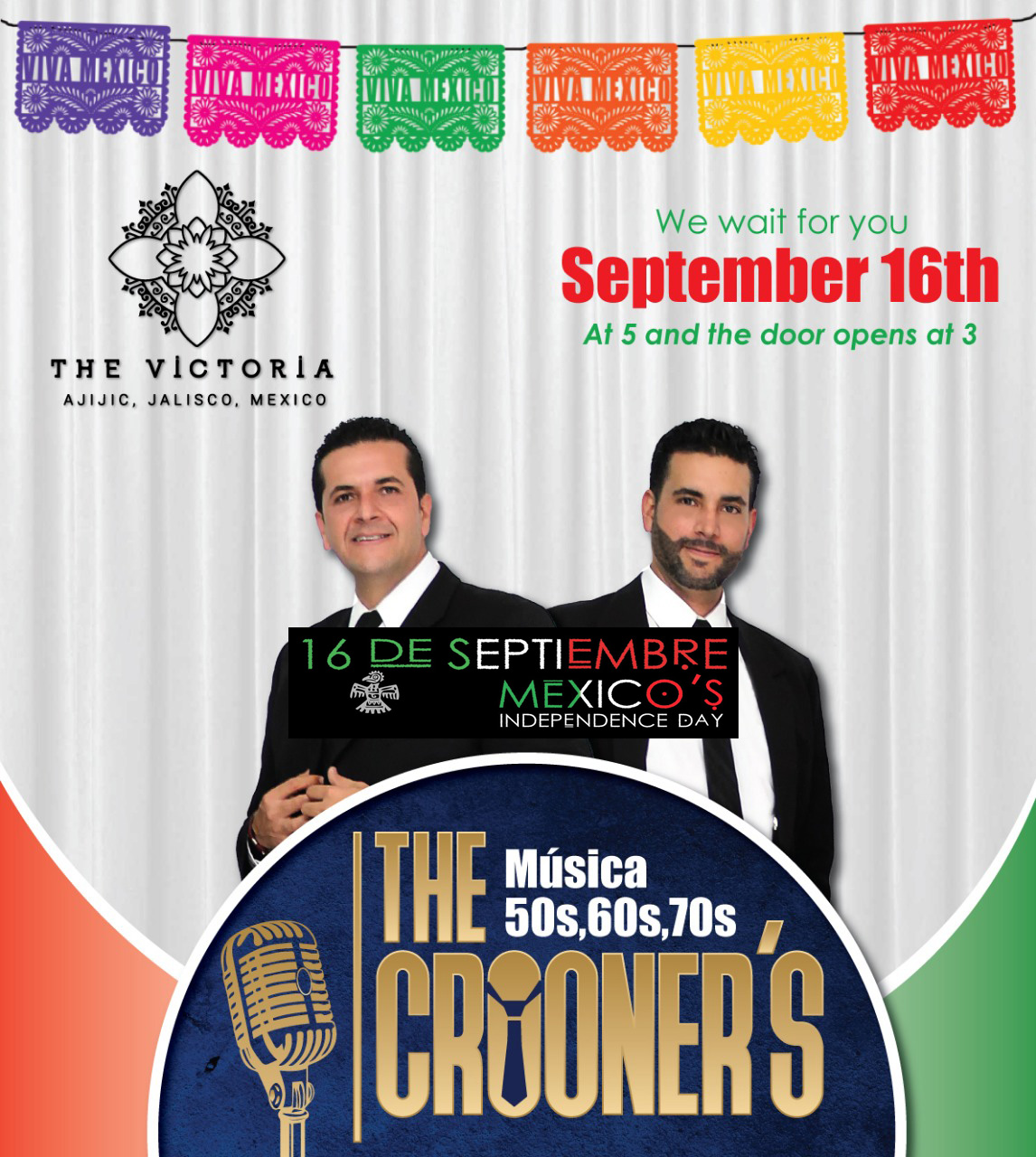 Celebrate Mexican Independence Day With The Crooners