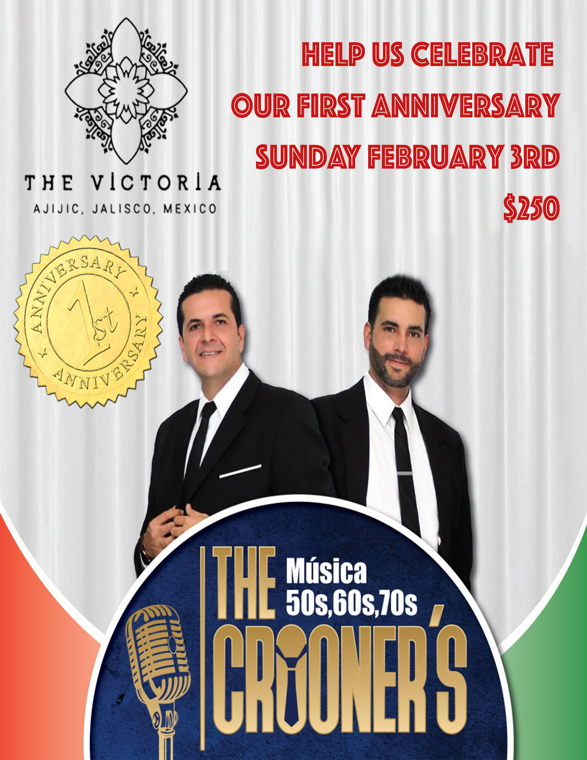 Our First Anniversary with The Crooners