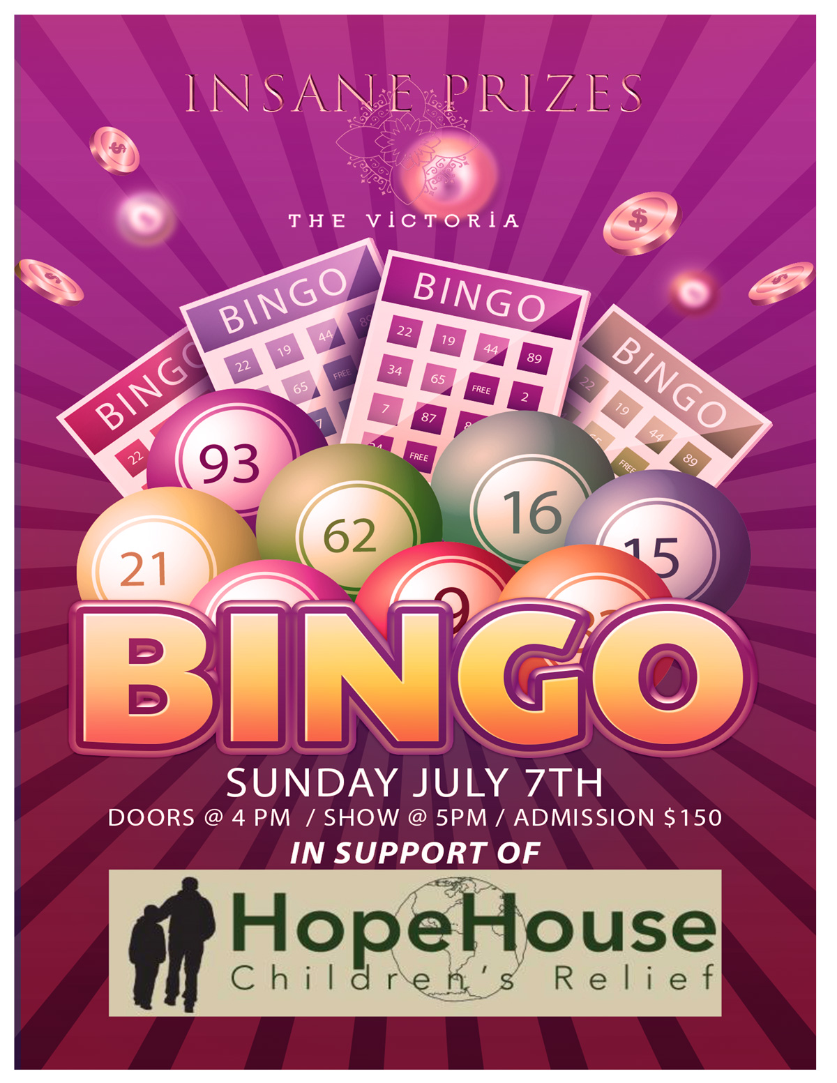 Bingo Fundraiser in Support of Hope House