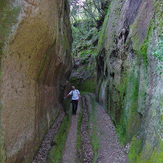 walking in gorge