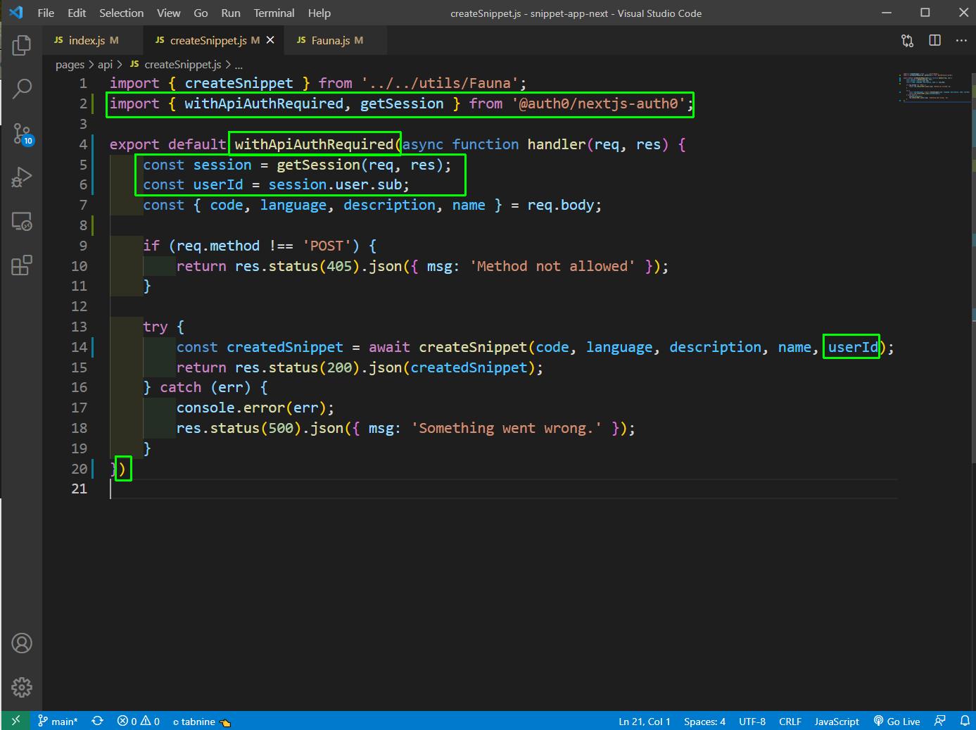 createSnippet.js
