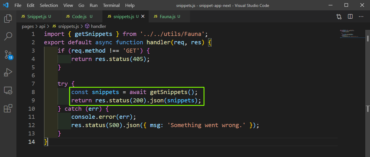 snippets.js
