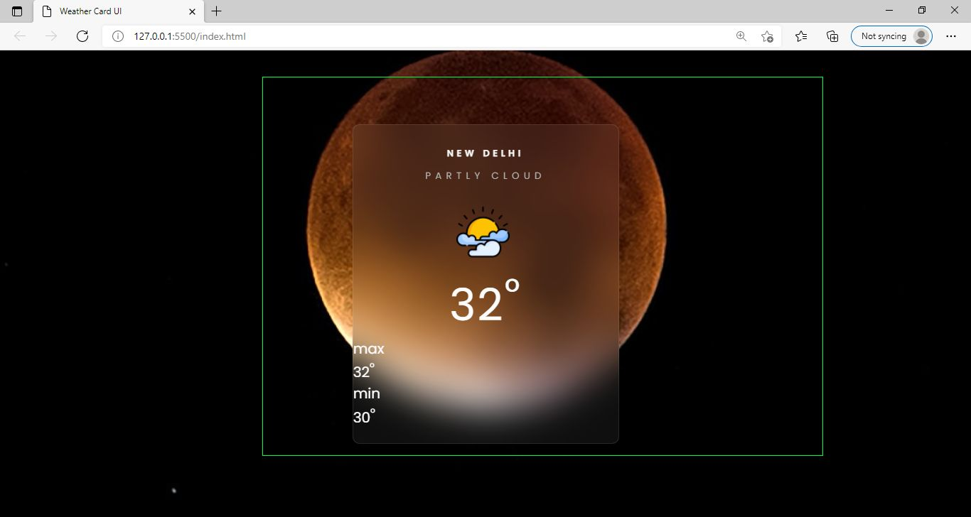 Weather Site