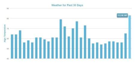 MozCast The Google Algorithm Weather Report.