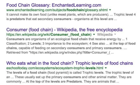 What's the title of the consumer at the highest level of a food chain.
