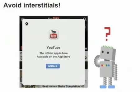 Avoid interstitials.