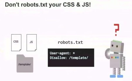 Dont robot your css and js.