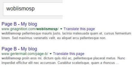 Keyword in URL test 2