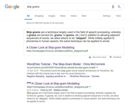 Featured Snippet from PDF showing in Google.