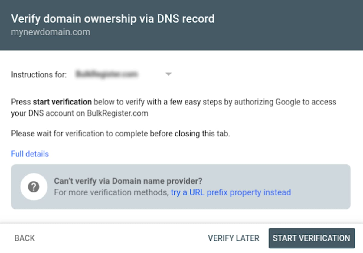 Google Introduces Auto-DNS verification.