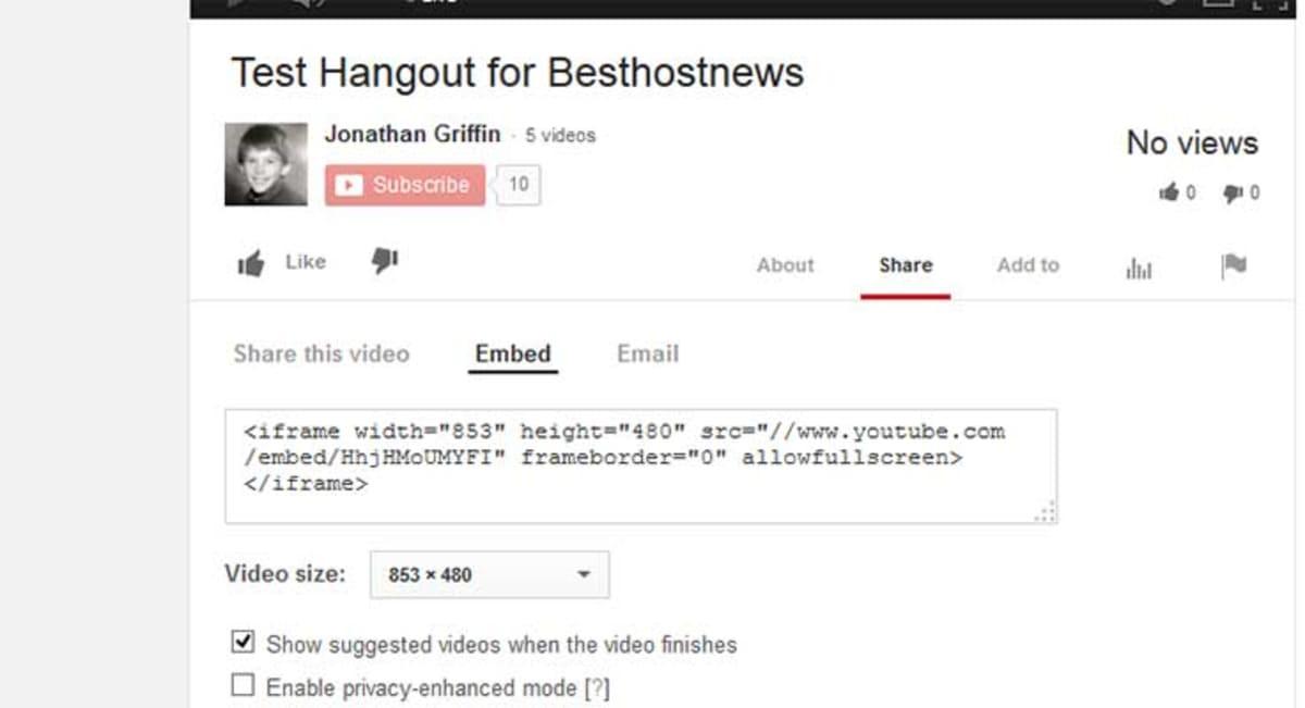 Youtube embed.