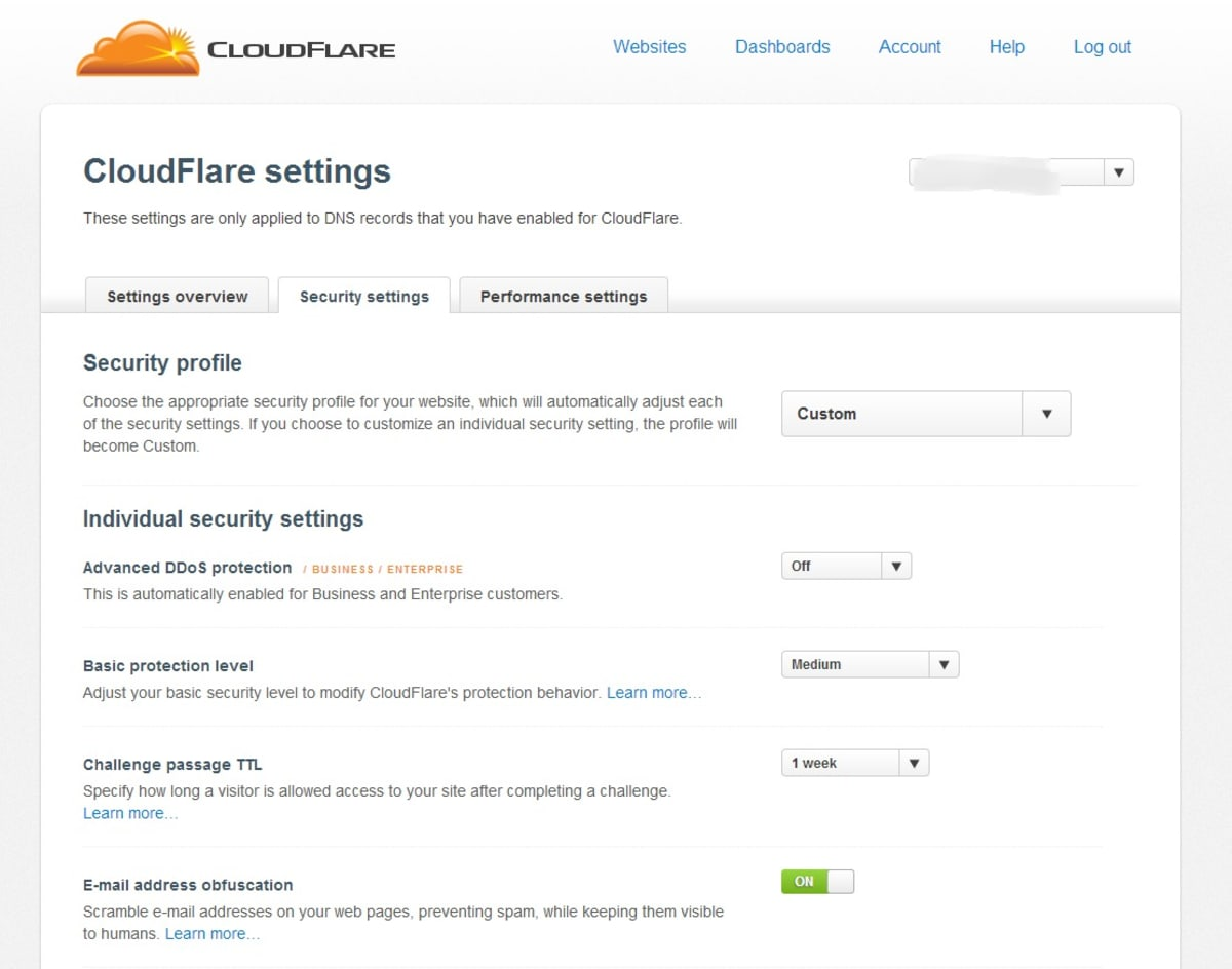 CloudFlare helps prevent spammers.