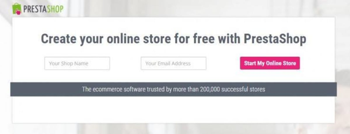 Create your online store with PrestaShop.