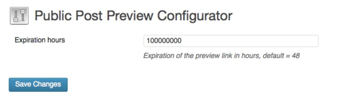 Public Post Preview Configurator Plugin.