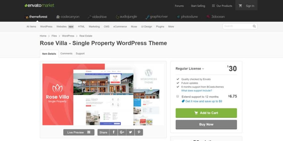Premium WordPress themes at ThemeForest.