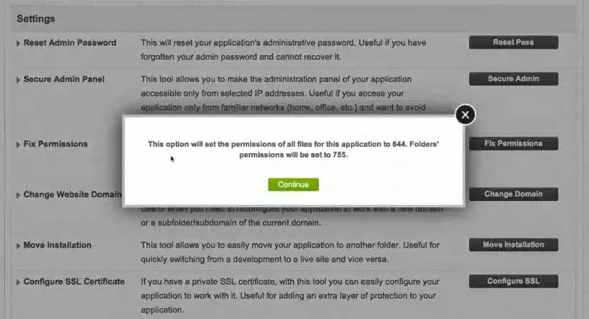 Fix permissions.