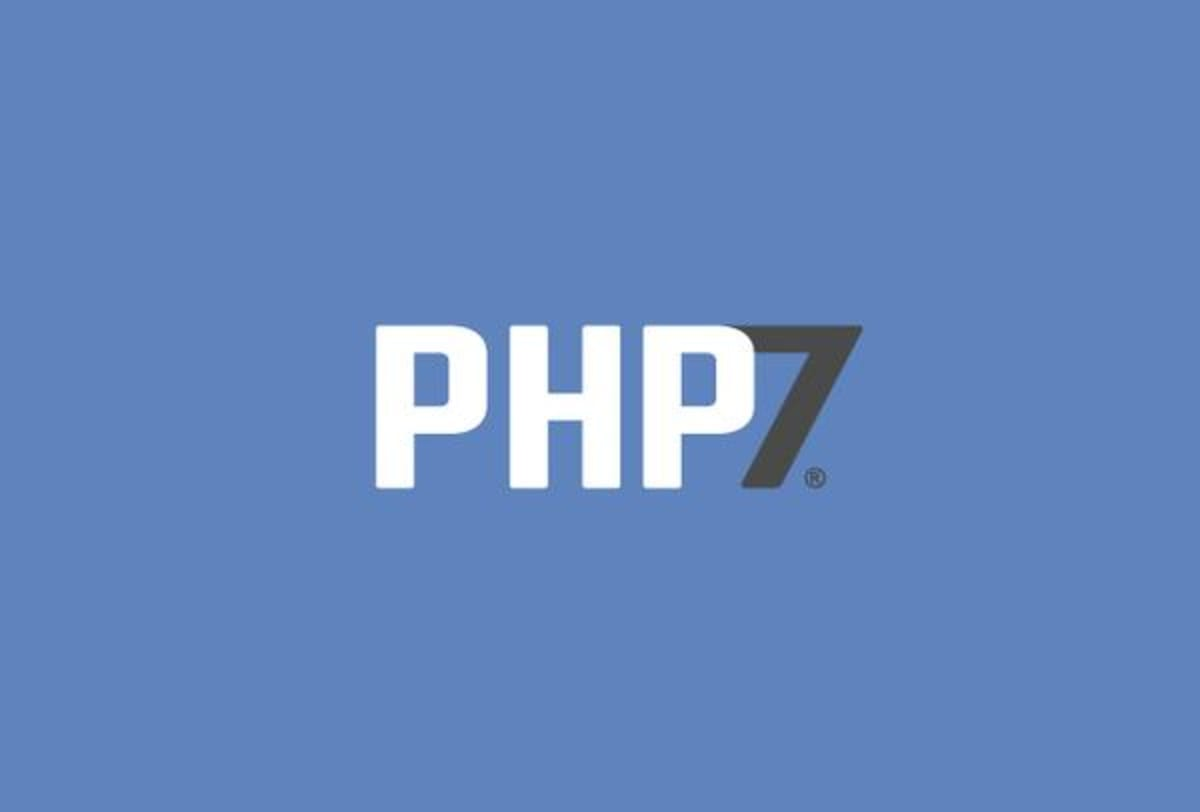 The PHP 7 logo is a concept.