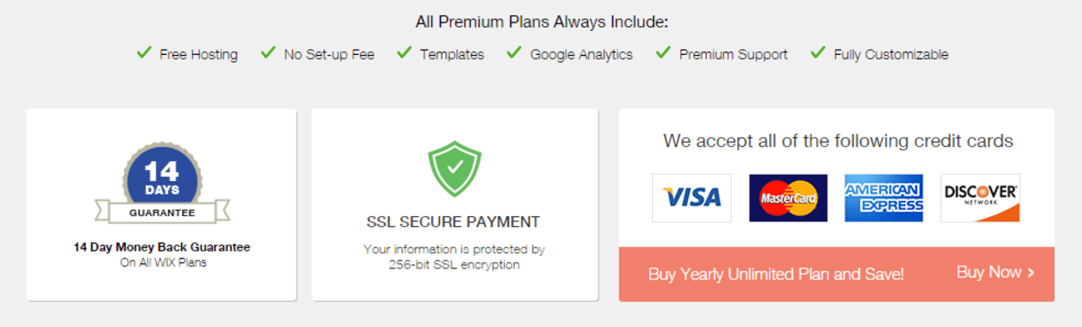 Wix Premium.