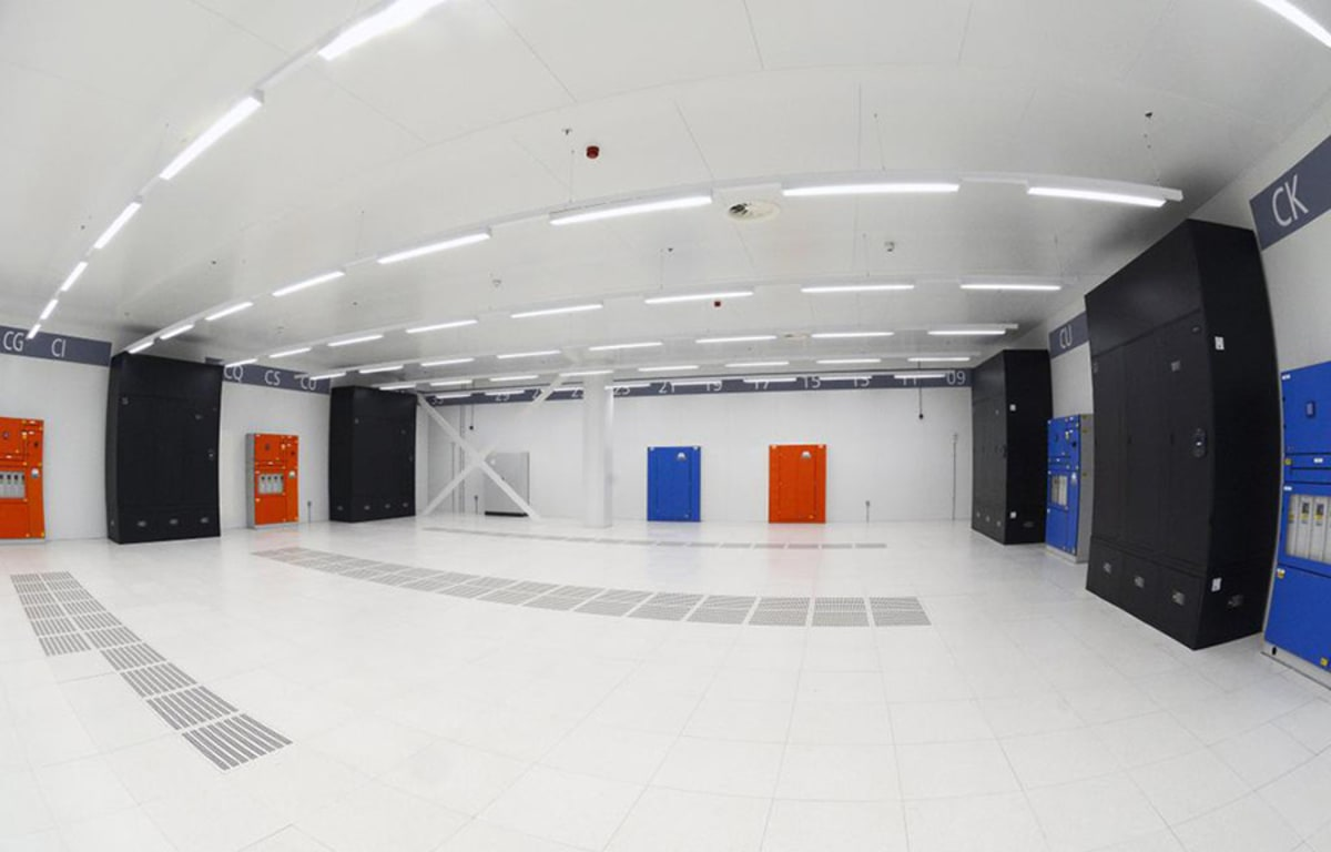 Softlayer data center inside.