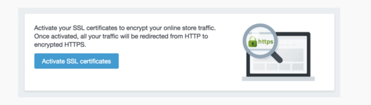 Activating SSL for your storefront.