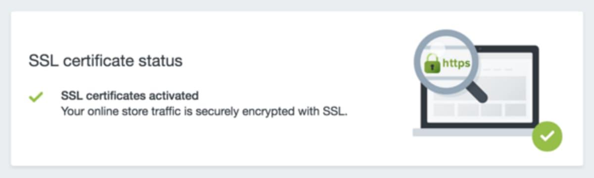 SSL certificate status.