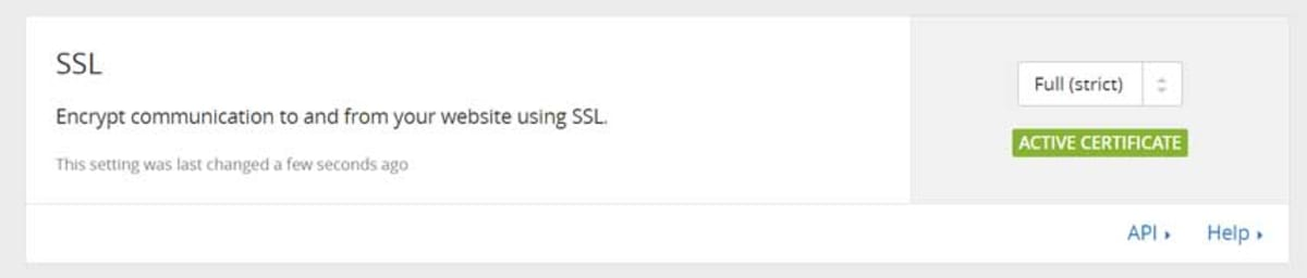CloudFlare full strict ssl.