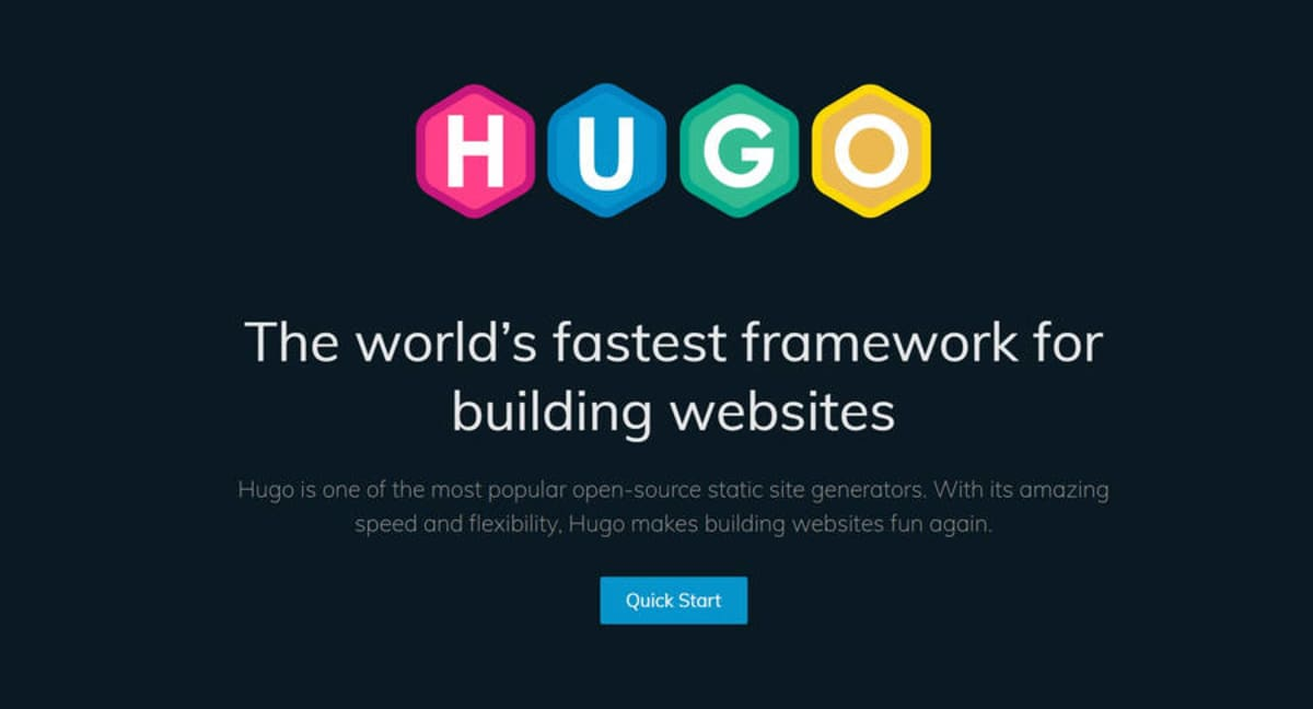 Hugo Static Site Generator.