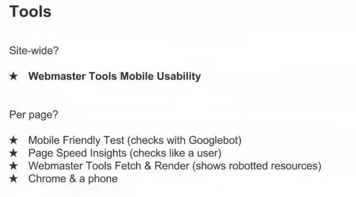 Google tools.