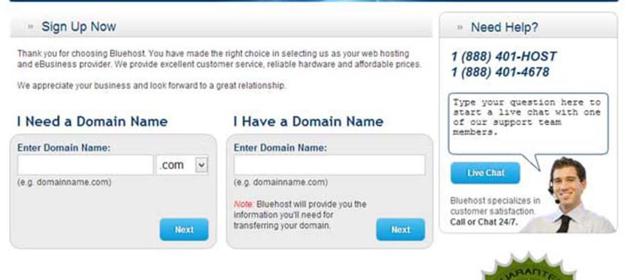 Choose domain.