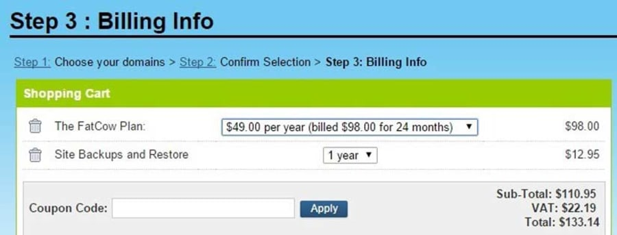 Choose your billing period