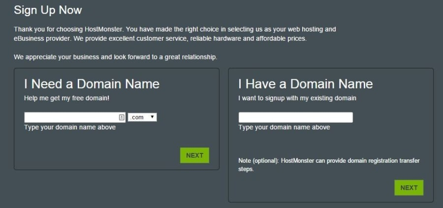 Complete your domain information