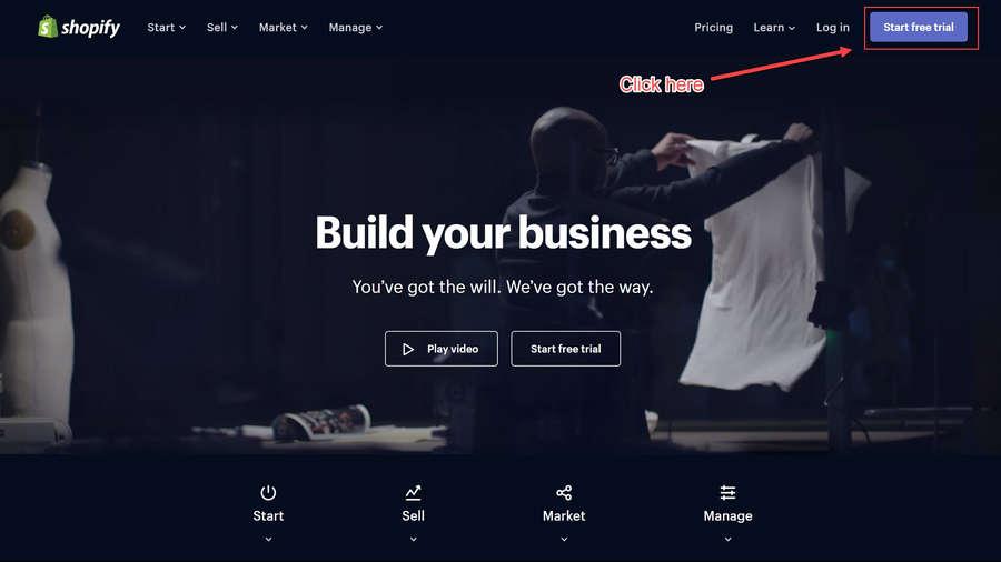 Click 'Start Free Trial'