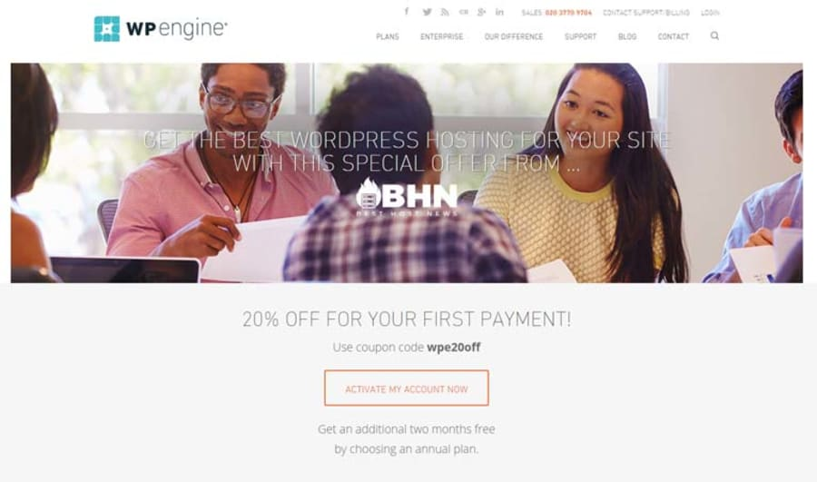 Click the WP Engine Offer