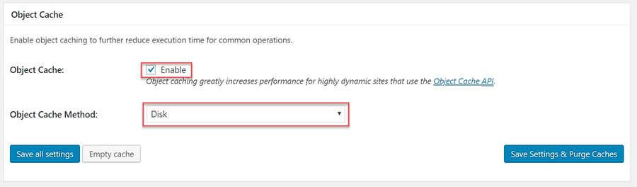 Configure Object Cache