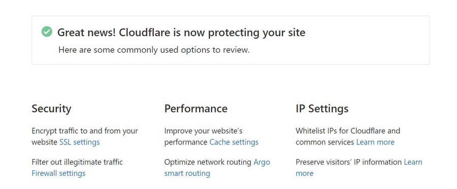 CloudFlare is now protecting your site