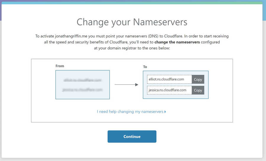 Change your Nameservers