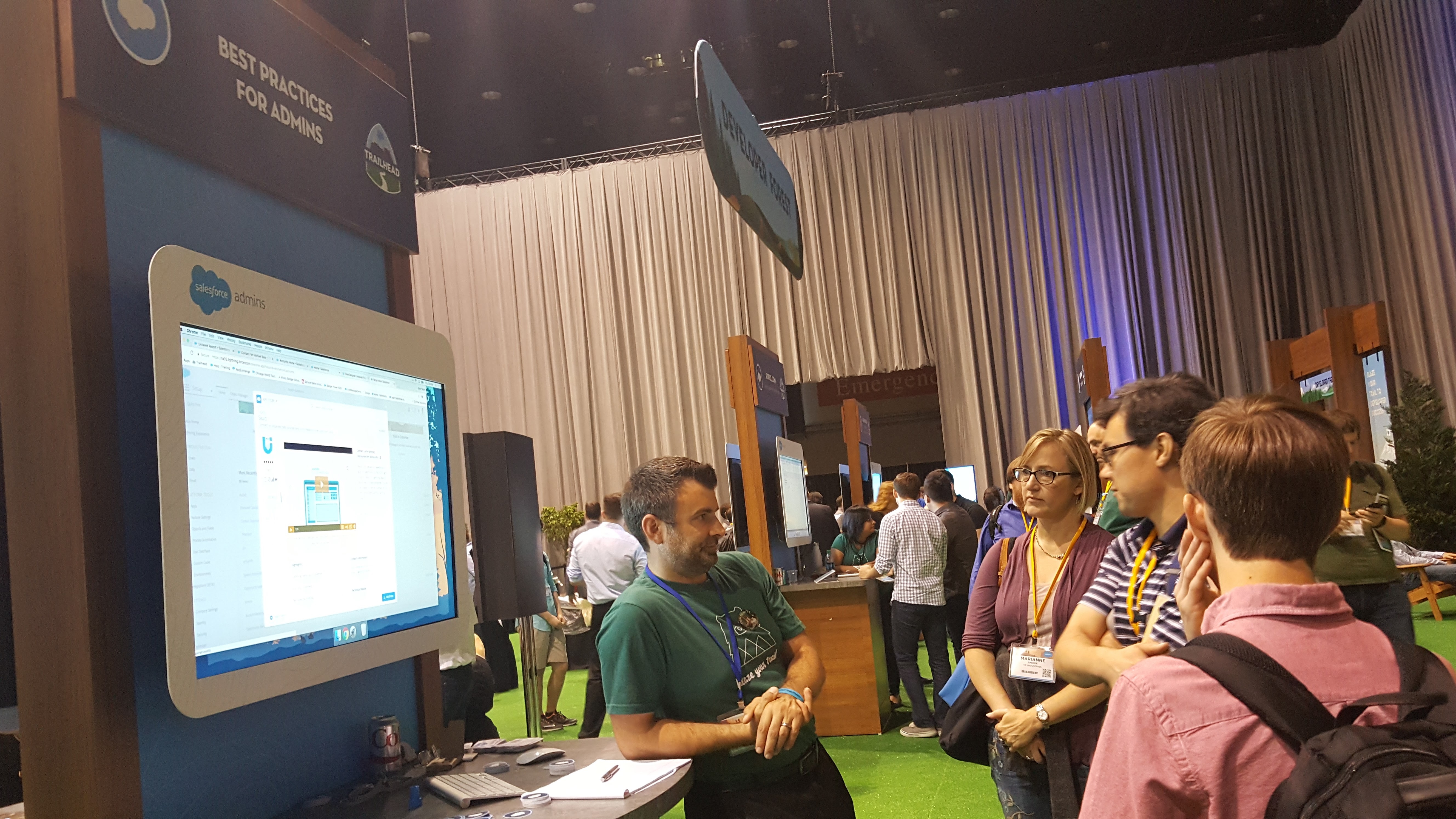 Booth At Salesforce World Tour