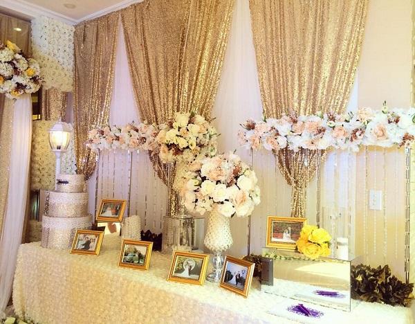 Theme cưới màu vàng đồng vương giả