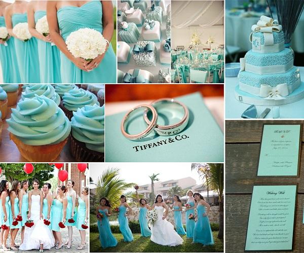 Theme cưới màu xanh bạc hà