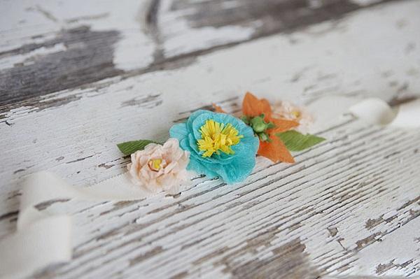 Backdrop hoa bằng giấy nhún